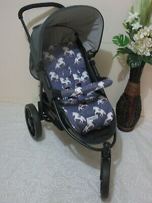 Handmade pram liner set-Magical unicorns-100% cotton Funky Babyz,SALE*