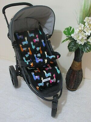 Handmade pram liner set-Happy llamas-100% cotton*Funky babyz