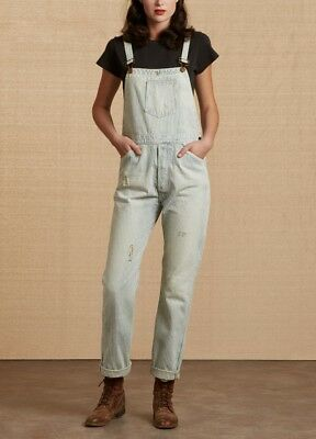 Levis Vintage Clothing LVC Hickory Overalls Dungarees Bib Brace W34 New USA £355