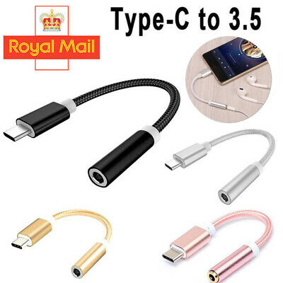 USB-C Type C To 3.5mm Audio Aux Headphone Jack Cable Adapter For Android UK