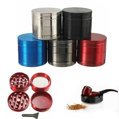 4 Layer Tobacco Herb Grinder Spice Herbal Zinc Alloy Smoke Mill Crusher Black