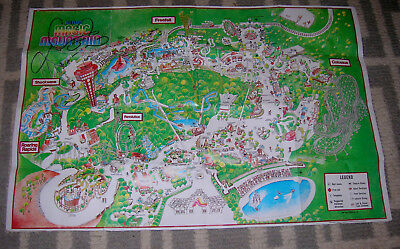 Six Flags Magic Mountain 1986 Park Poster Map