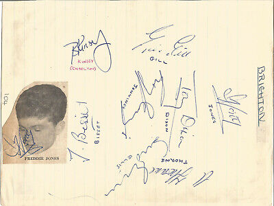 Football Autographs Brighton FC Signed Paper Slip 17cm x 22.5cm Approx F606