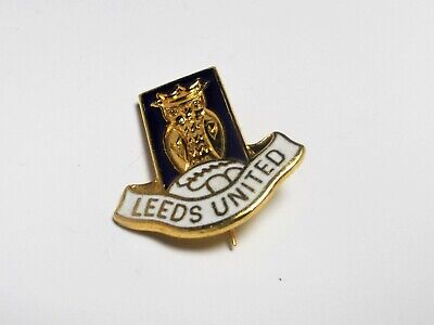 Leeds United Fc - Vintage Large Enamel Crest Badge.