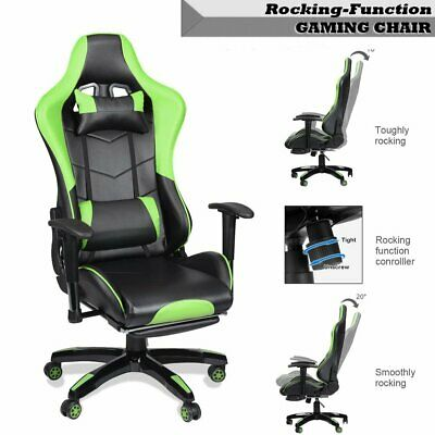 Luxury Executive Racing Gaming Swivel Recliner Computer Office Chair PU Leather