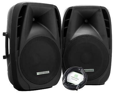 "2x ALTOPARLANTI CASSE ATTIVE MONITOR DJ PA USB MP3 BLUETOOTH 15"" 38CM 700W PAIO"