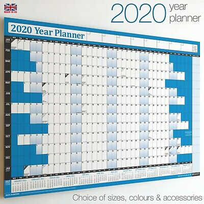 2020 Year Planner Wall Chart+Calendar+Holidays✔Staff✔Office✔WIDEST RANGE ON EBAY