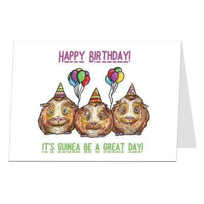Funny Animal Birthday Card Cute Guinea Pig Design For Adults Kids