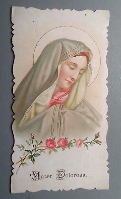 Estampa religiosa antigua MATER DOLOROSA VIRGEN  holy card