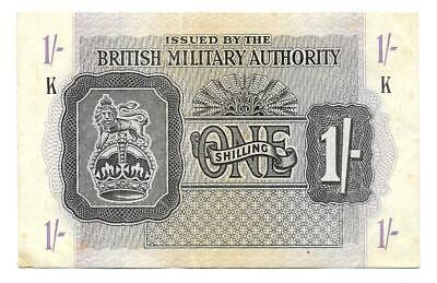 1S One Shilling British Military Army WWII,ND(1943),P-M2, Great Britain Note