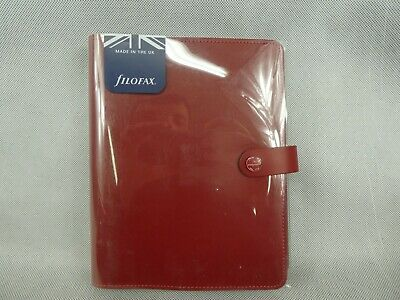 Filofax A5 Original Personal Organiser Pillarbox Red Leather New Needs 2019 Page