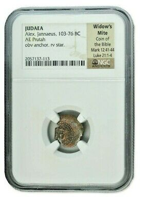 2000 Year Old Widows Mite Guaranteed Authentic (103-76 BC) NGC Certified