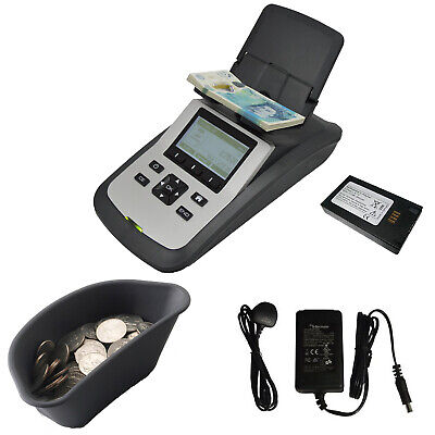 Tellermate Tix D2000 Money Counting Scales, Battery, Coin Tray, Mains adaptor