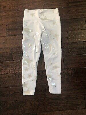 9fbb20751393ab American Eagle Aerie Leggings High Waisted Star Whitw Size Medium, Retail  $44.95