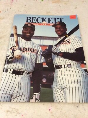 Beckett Baseball Magazine Monthly Price Guide August 1991 Fred McGriff Tony Gwyn