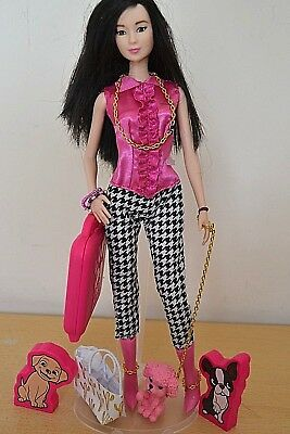 2018 BARBIE CONVENTION Table Centrepiece Asian Barbie with Dog