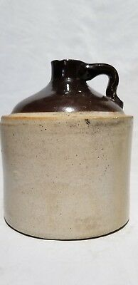 Vintage Whiskey jug, Unmarked Stoneware, Two Tone,Whiskey Jug, Minor Chip (Top)