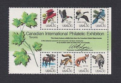 Scott #1757 CAPEX Wildlife 13c (Mini Souvenir Sheet of 8) 1978 Mint NH