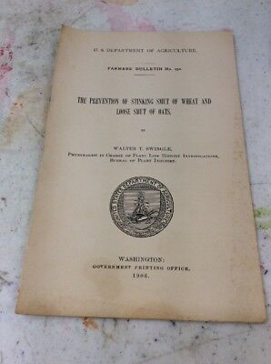 US DEPARTMENT OF AGRICULTURE FARMERS BULLETIN 1906 Prevent Smut Of Wheat & Oats