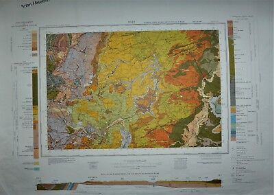 Large Geological map of Bath