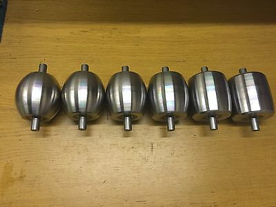 Fj Edwards Bottom Anvils/rollers,3.5x3.5 Inch Long, 7/8 Shaft. Very High Quality