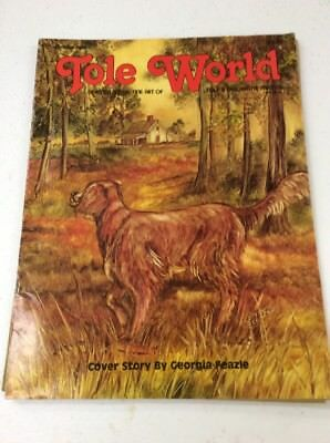 vintage Tole World Magazine Patterns fine art decorative Painting October 1980