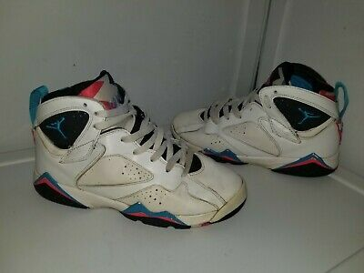 buy online 00211 06a30 Nike Air Jordan 7 VII Retro Orion Boys Basketball Shoes 7Y White Blue  304774-105