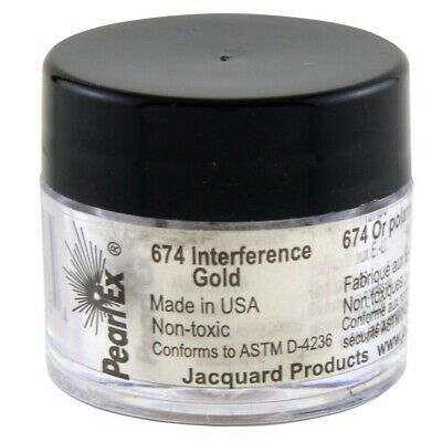 Pearl Ex Powdered Pigments (1) 3 Gram 674 INTER. GOLD by Jacquard