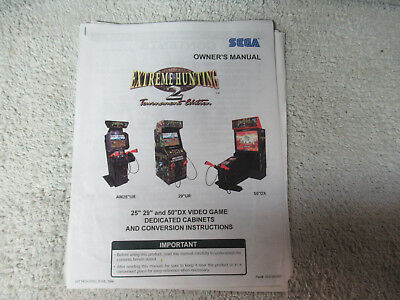 EXTREME HUNTING 2 SAMMY    arcade game manual