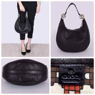 8d436a8978b071 AUTHENTIC GUCCI GUCCISSIMA Large Black Leather Hobo Bag - $800.00 ...