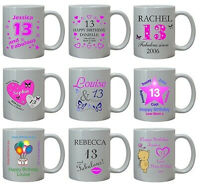 13th Birthday S Gift Mug Coaster Personalised Ager Daughter Niece Sister Set Daughters