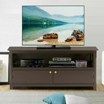 HOME ENTERTAINMENT SYSTEM Center Small Tv Stand Shelves ...