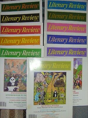 Literary Review 1993 - Jan-to-Sep + Nov / Dec (11 issues)