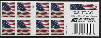 US Scott #5161a, Booklet Pane Plate #P1111 2017 Flag VF MNH