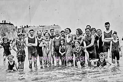 MARGATESCANTLY CLAD Swimmers BOYS & GIRLS Costumes EARLY 1900s  PRINT 70110