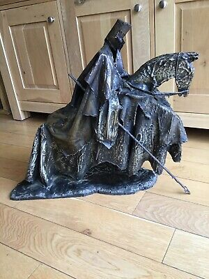 Large Metal Knight On Horse