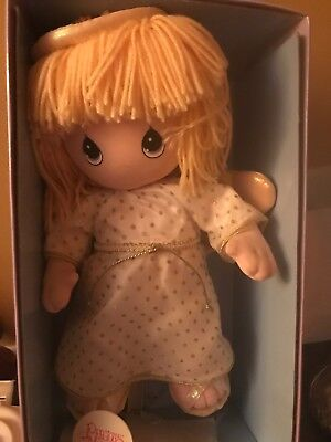 """Precious Moments Doll 12"""" Guardian Angel New In  Original Box With Pin ~ Retired"""