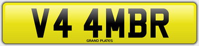 Amber Ambers NUMBER PLATE AMB NO ADDED FEES V44 MBR CAR REGISTRATION AMB AMBERS