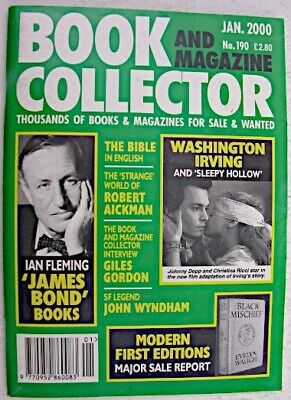 BOOK & MAGAZINE COLLECTOR Jan 2000 No 190 Washington Irving Ian Fleming Wyndham