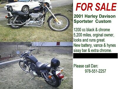 2001 Harley-Davidson Sportster  Harley-Davidson sportster motorcycle