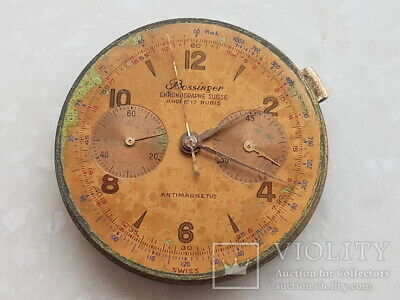 Vintage Chronograph Wristwatch Suisse Bossinger movement