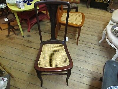 Vintage Mahogany Edwardian Caned side dinning Chair