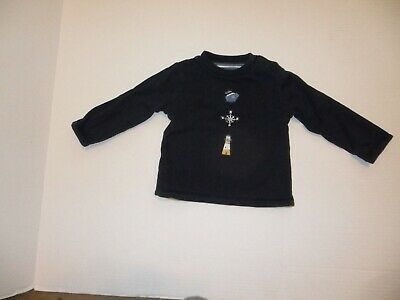 EUC Janie and Jack Baby Boy Reversible Solid Striped Long Sleeve Tee 6-12 M