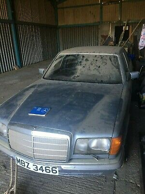 Mercedes-Benz 380 SEL 1982 - With Mercedes Number Plate, Barn Find