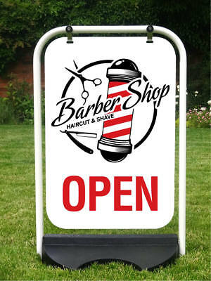 Barber Sign Hair Salon Sign Barbers Pole Shop Pavement Sign Haircut Sign Shave