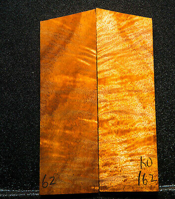 """Curly Koa #162 Knife Scales 5-5.3""""x 1.7"""" x 3/8"""" see 100 species in my store"""