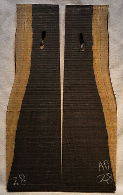 """African Blackwood #28 Knife Scales 7.8""""x1.7-2.3""""x 5/16"""" note defects"""