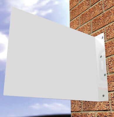 Shop Sign Wall Sign Projecting Sign Double Sided Hanging Sign White Un-Printed