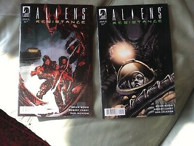 ALIENS RESISTANCE, Issues 1 and 2/Dark Horse Comics