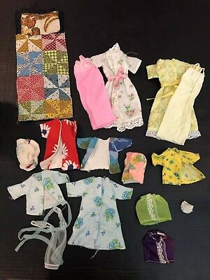 Barbie Clothes Vintage (1970's) Assortment of Sleepwear and Robes